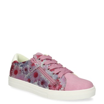 ec27aef4bde Růžové dětské tenisky s květinovým potiskem mini-b