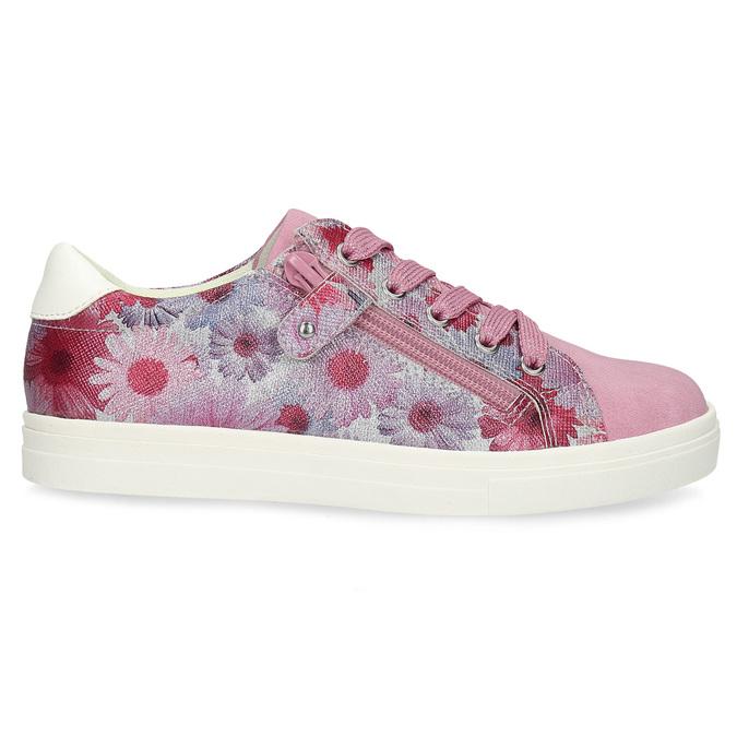 Růžové dětské tenisky s květinovým potiskem mini-b, růžová, 321-5635 - 19