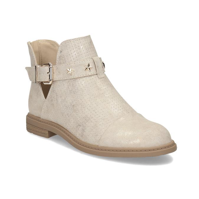 Dívčí kotníčková obuv béžová mini-b, zlatá, 321-8248 - 13
