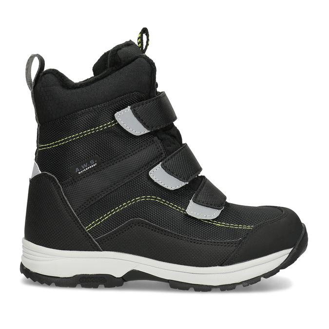 Dětská černá zimní obuv na suché zipy icepeak, černá, 399-6019 - 19