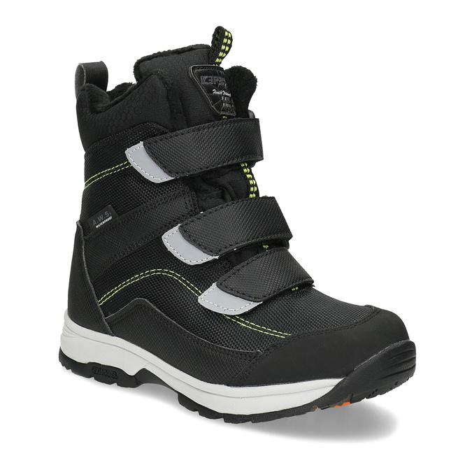 Dětská černá zimní obuv na suché zipy icepeak, černá, 399-6019 - 13