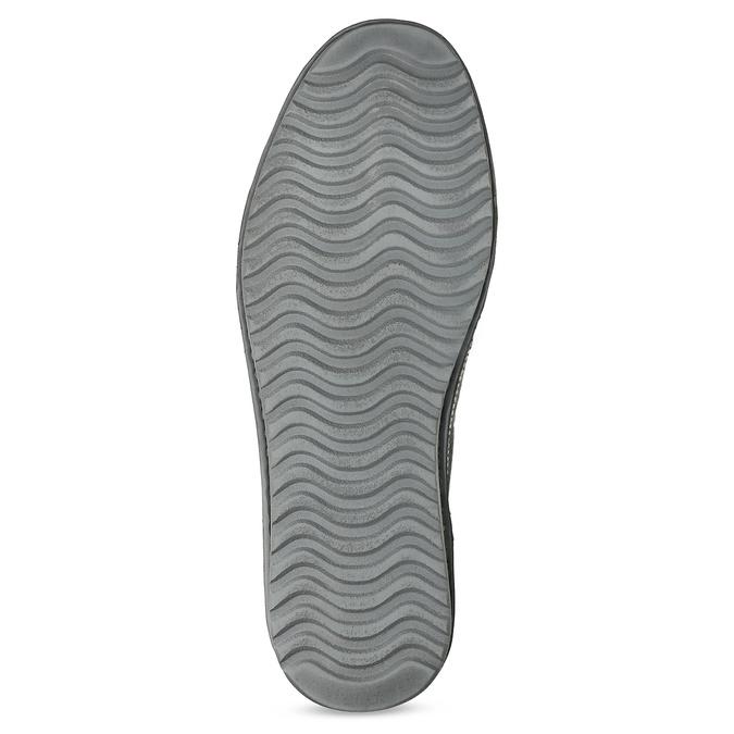 Pánské mokasíny z šedé broušené kůže comfit, šedá, 833-2651 - 18