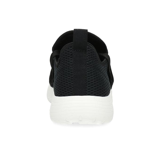 Dámské černé tenisky s elastickým pruhem bata-red-label, černá, 519-6607 - 15