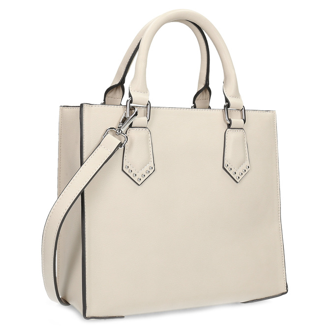 Béžová dámská kabelka s popruhem bata, béžová, 961-8951 - 13