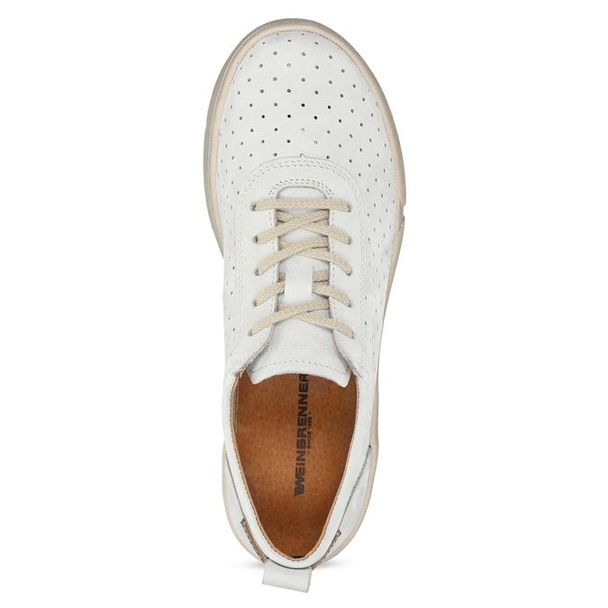 Bílé kožené dámské tenisky weinbrenner, bílá, 546-1622 - 17