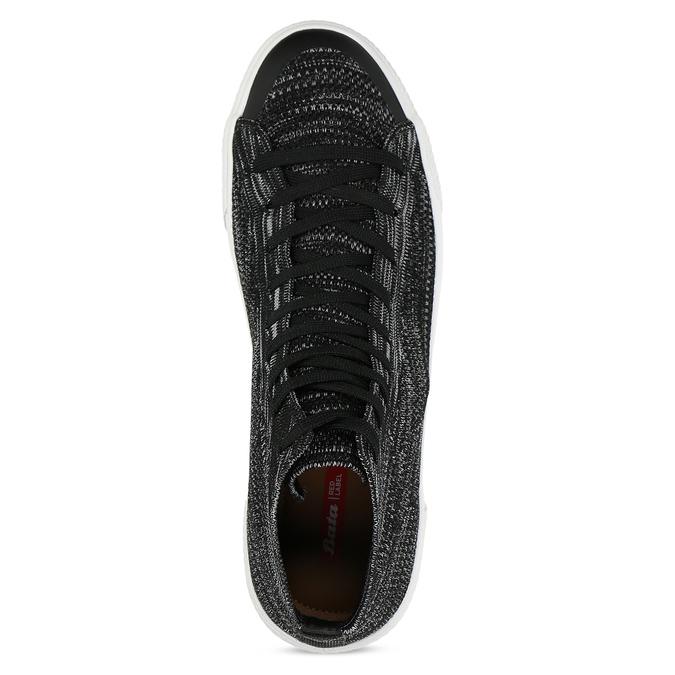 Kotníčkové tenisky z úpletu bata-red-label, černá, 849-6600 - 17