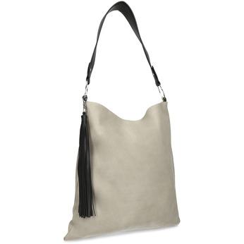 Béžová Hobo kabelka s černými detaily bata, béžová, 961-8935 - 13