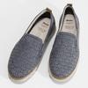 Dámská kožená Slip-on obuv s perforací comfit, modrá, 516-9614 - 16