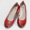 Červené kožené lodičky na stabilním podpatku bata, červená, 624-5649 - 16