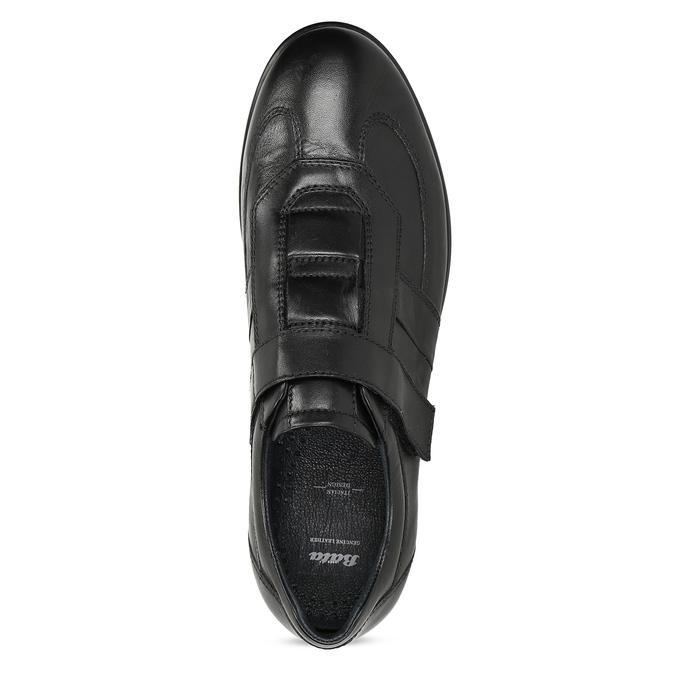 Pánská kožená obuv na suchý zip bata, černá, 824-6666 - 17