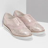 Dámské kožené polobotky růžové bata, růžová, 546-5620 - 26