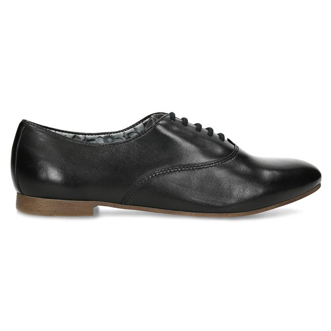 Černé kožené dámské polobotky bata, černá, 544-6603 - 19