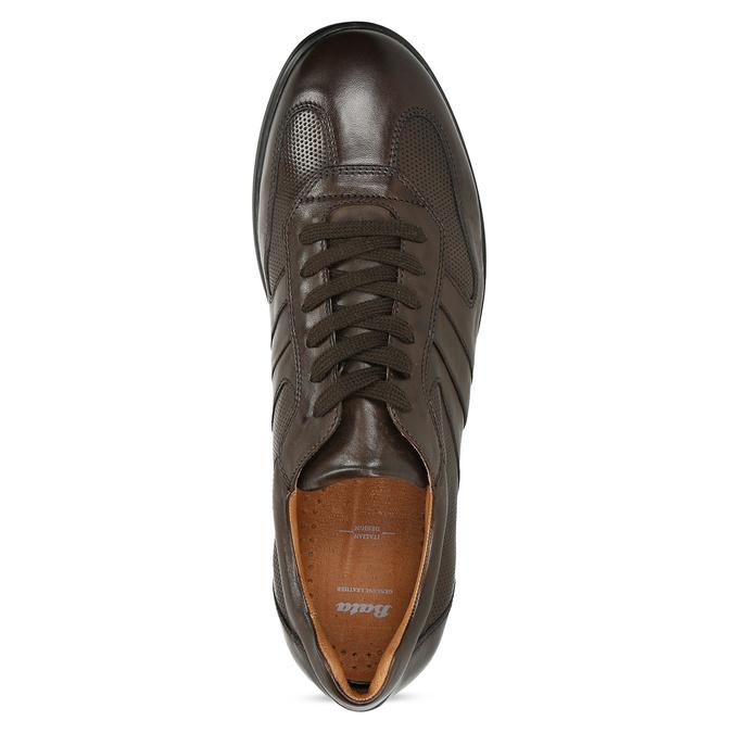 Kožené hnědé pánské tenisky bata, hnědá, 826-4686 - 17