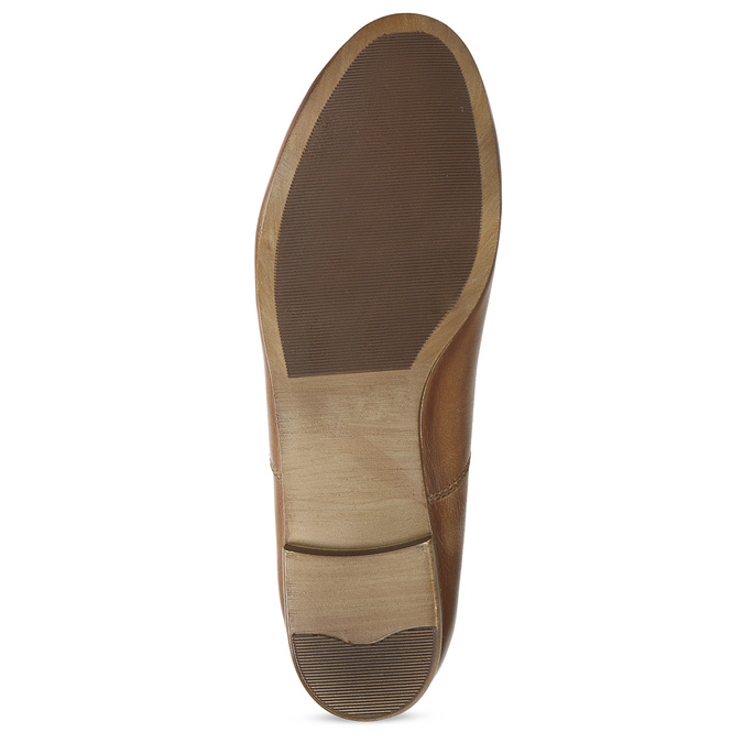 Dámské hnědé kožené polobotky bata, hnědá, 544-4603 - 18