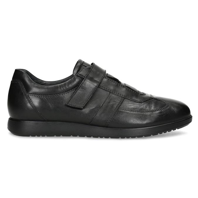 Pánská kožená obuv na suchý zip bata, černá, 824-6666 - 19