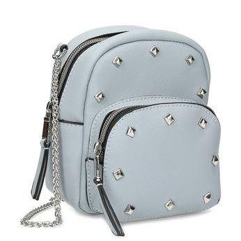 Modrá Crossbody kabelka s kovovými cvoky bata, modrá, 961-9965 - 13