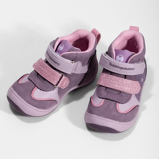 Růžové dětské kotníčkové tenisky bubble-breathe, fialová, 121-0702 - 16