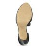 Kožené černé sandály s asymetrickým páskem insolia, černá, 764-6600 - 18