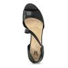 Kožené černé sandály s asymetrickým páskem insolia, černá, 764-6600 - 17