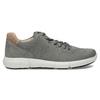 Pánské šedé kožené tenisky s perforací bata-light, šedá, 846-2722 - 19