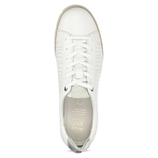 Bílé kožené dámské tenisky s perforací flexible, bílá, 524-1606 - 17