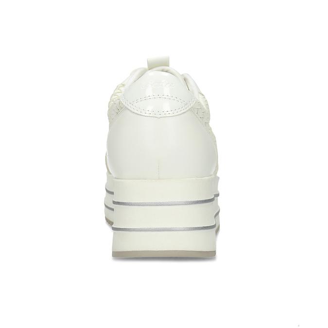 Bílé dámské tenisky na vysoké flatformě bata-light, bílá, 621-1656 - 15