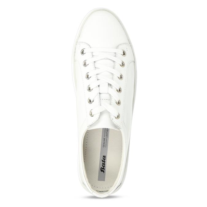 Kožené bílé dámské tenisky bata, bílá, 544-1601 - 17