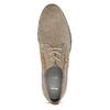 Pánské ležérní polobotky z broušené kůže bata, béžová, 823-2634 - 17