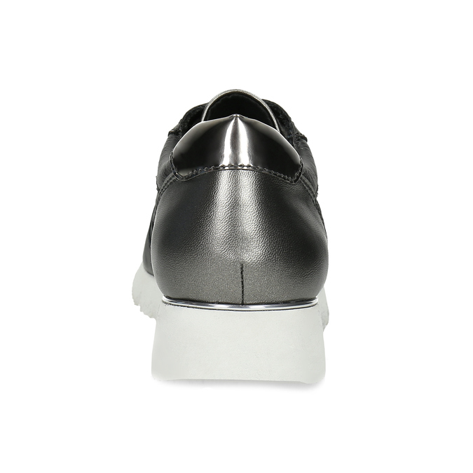 Dámské kožené tenisky černé bata, černá, 544-6600 - 15
