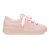 Dámské kožené tenisky s mašlí růžové bata, růžová, 543-5600 - 19