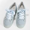 Kožené tenisky s mašlí modré bata, modrá, 543-9600 - 16