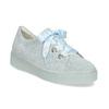Kožené tenisky s mašlí modré bata, modrá, 543-9600 - 13