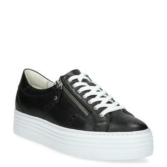 Černé tenisky na flatformě se zipem bata, černá, 544-6602 - 13