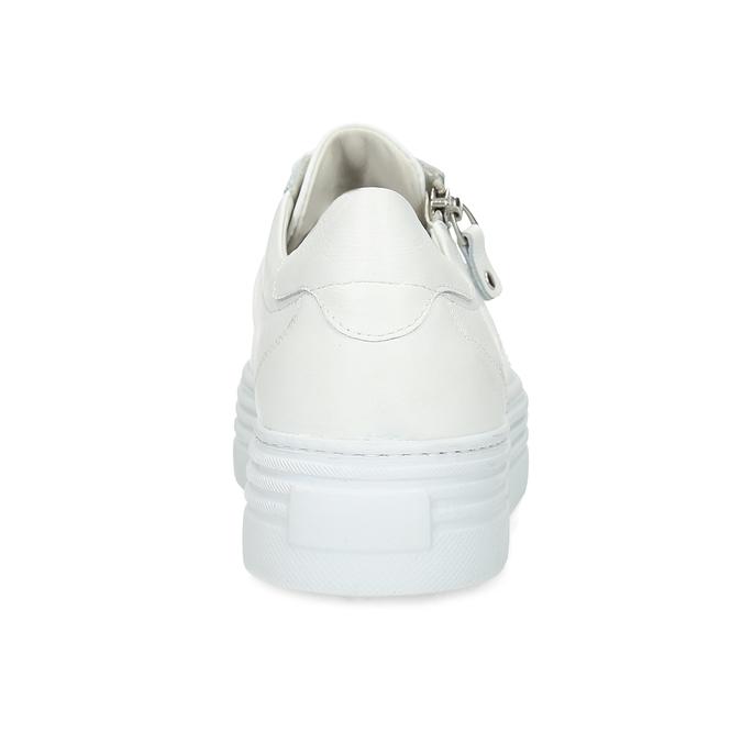 Bílé tenisky na flatformě se zipem bata, bílá, 544-1602 - 15