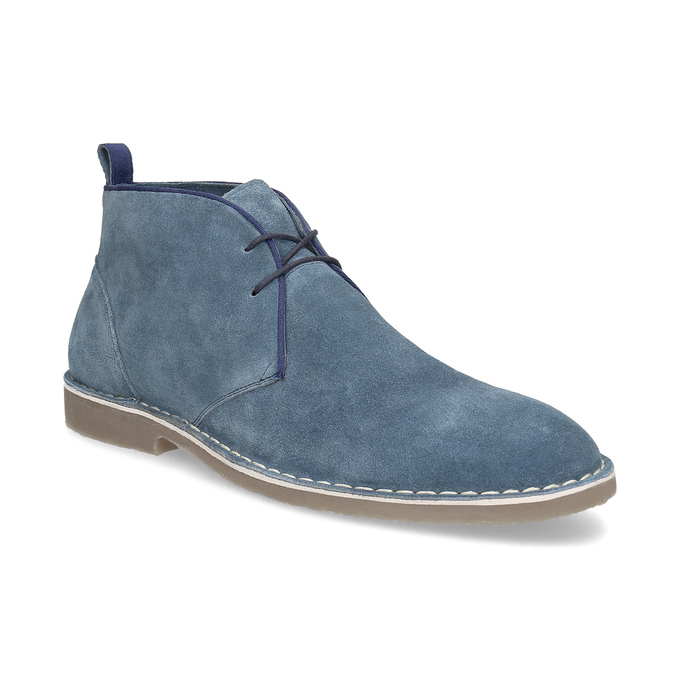 Pánské kožené Desert Boots modré bata, modrá, 823-9655 - 13