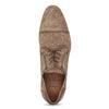 Hnědé kožené polobotky s brogue zdobením bata, hnědá, 823-3654 - 17