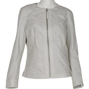 Dámská kožená bunda bílá bata, bílá, 974-1122 - 13
