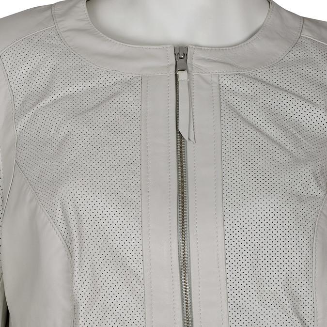 Dámská kožená bunda bílá bata, bílá, 974-1122 - 16
