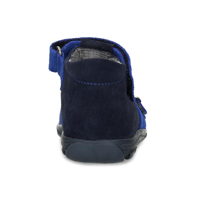 Kožené chlapecké sandály s přezkami richter, modrá, 163-9103 - 15