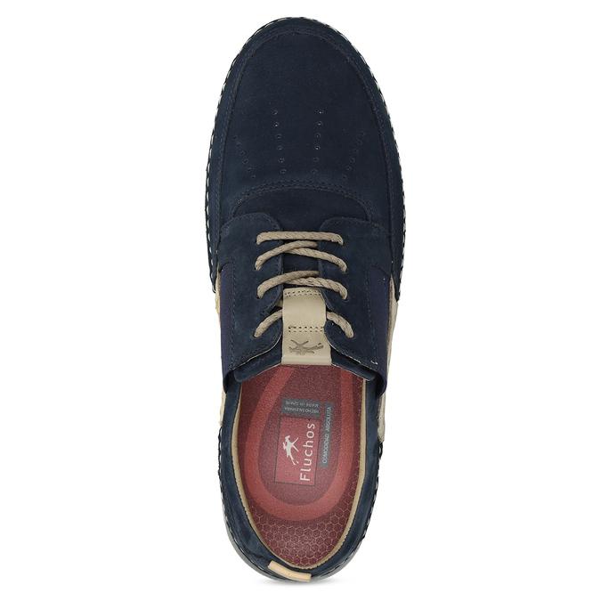 Ležérní modré polobotky z broušené kůže fluchos, modrá, 826-9844 - 17