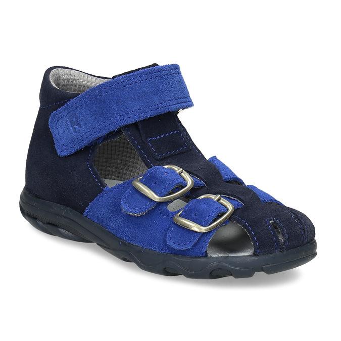 Kožené chlapecké sandály s přezkami richter, modrá, 163-9103 - 13