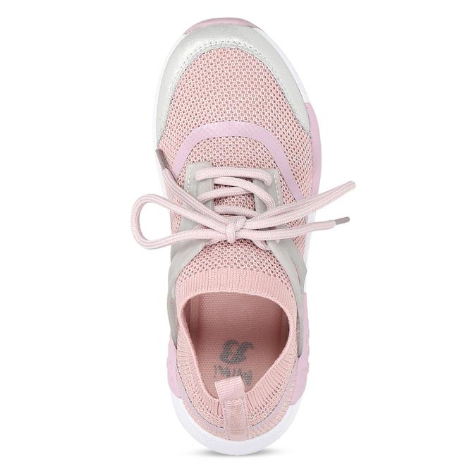 Růžové dětské tenisky v pleteném designu mini-b, růžová, 329-5282 - 17