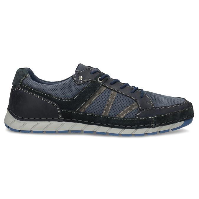 Ležérní pánské tenisky z broušené kůže bata, modrá, 843-9646 - 19