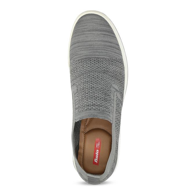 Pánské šedé úpletové slip-on tenisky bata-red-label, šedá, 839-2605 - 17
