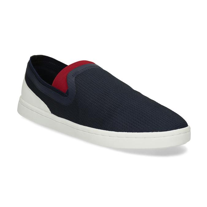 Slip-on pánské tenisky tmavě modré bata-red-label, modrá, 839-9604 - 13