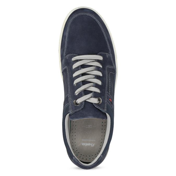 Kožené tmavě modré tenisky bata, modrá, 846-9600 - 17