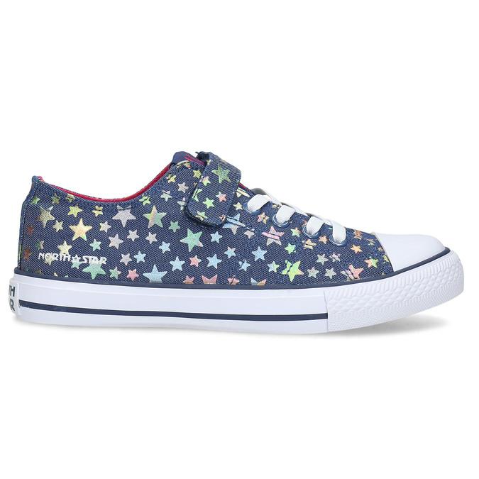 Modré dětské tenisky s duhovými hvězdičkami north-star, modrá, 429-9605 - 19