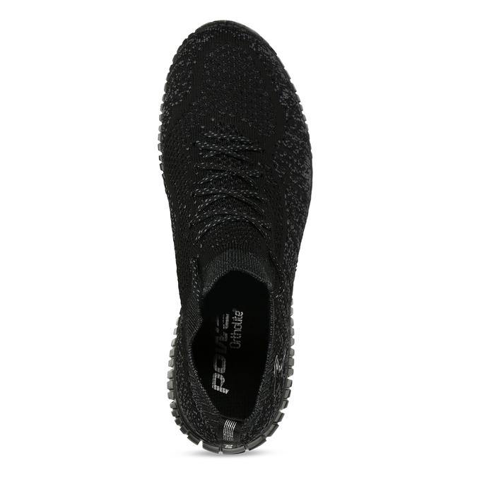Dámské černé tenisky s žíháním power, černá, 509-6520 - 17