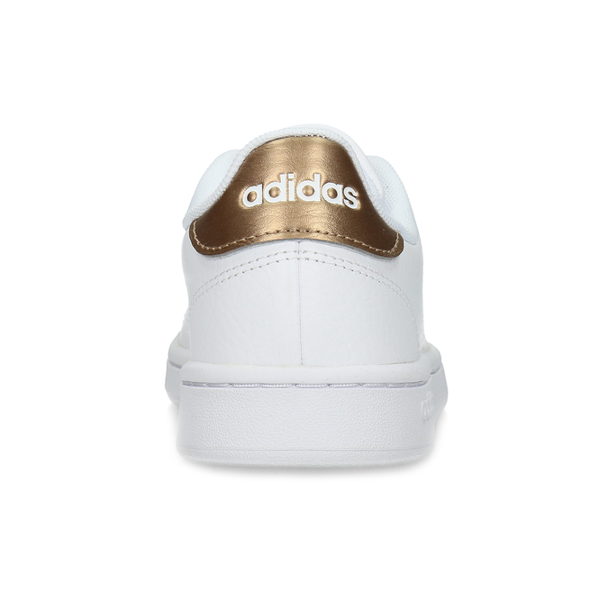 Dámské bílé tenisky s perforací adidas, bílá, 501-1854 - 15