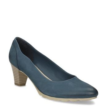 Tmavě modré dámské lodičky bata, modrá, 626-9652 - 13